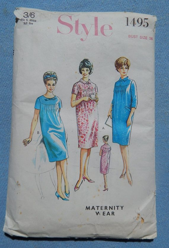 1960s Maternity dress Style 1495 Sewing pattern