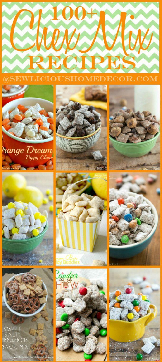 100 Party Chex Mix Recipes sewlicioushomedecor.com