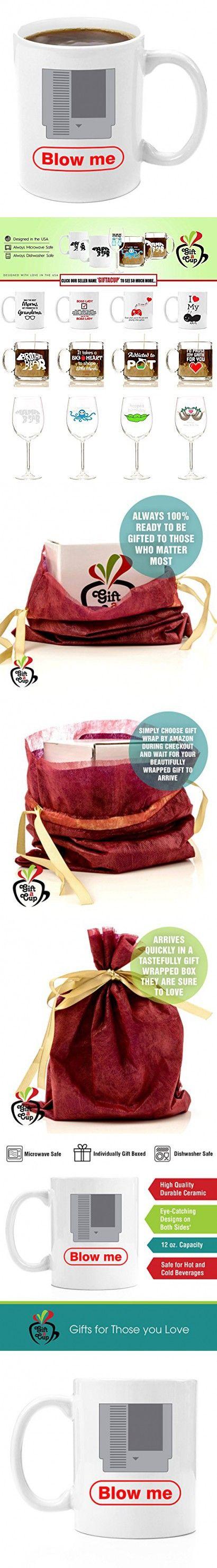 Blow Me | Gamer Gift 11oz Premium Coffee Mug Gift Set - PC Gamer Gifts for men, Birthday, Joke Gamer, for Kids, Bag, for Girls, Basket, for Boys, ps4, xBox, 360, Computer, Teens, Gag, Boyfriend