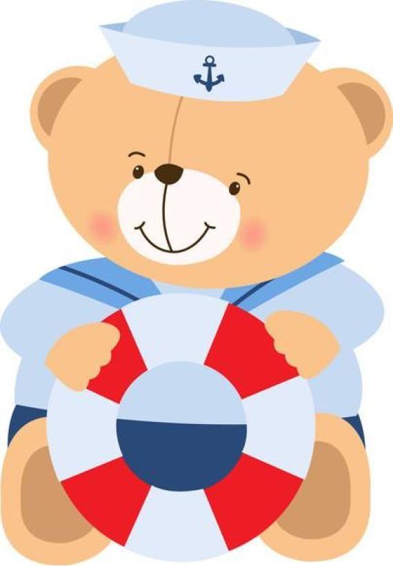 Adesivo urso marinheiro                                                                                                                                                                                 More