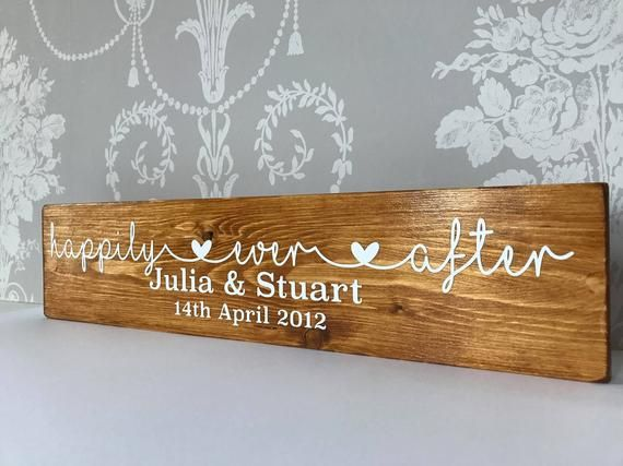 Personalised Wooden Plaque Family Happily Ever After Wedding Etsy In 2021 Personalised Wooden Plaques Wooden Plaques Personalized Signs