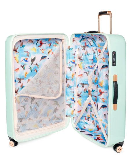 SAMMIE | Large sugar sweet floral suitcase - Pale Green | Bags | Ted Baker