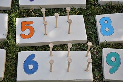 DIY counting peg board.  Math and fine motor made for only a few dollars - Re-pinned by @PediaStaff – Please Visit http://ht.ly/63sNt for all our pediatric therapy pins
