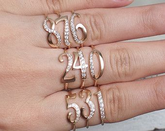 Birthstone Name Ring  Custom name with by GracePersonalized
