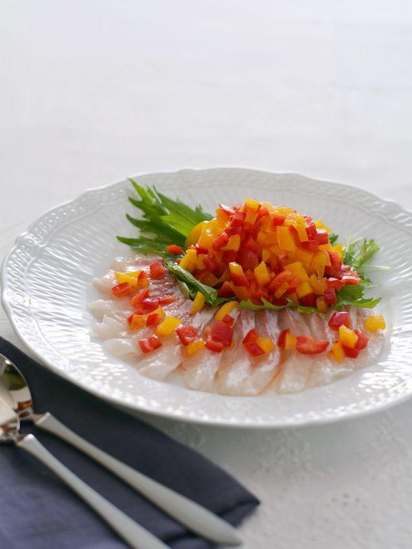 パプリカマリネと白身魚のカルパッチョ by 西山京子/ちょりママ ...