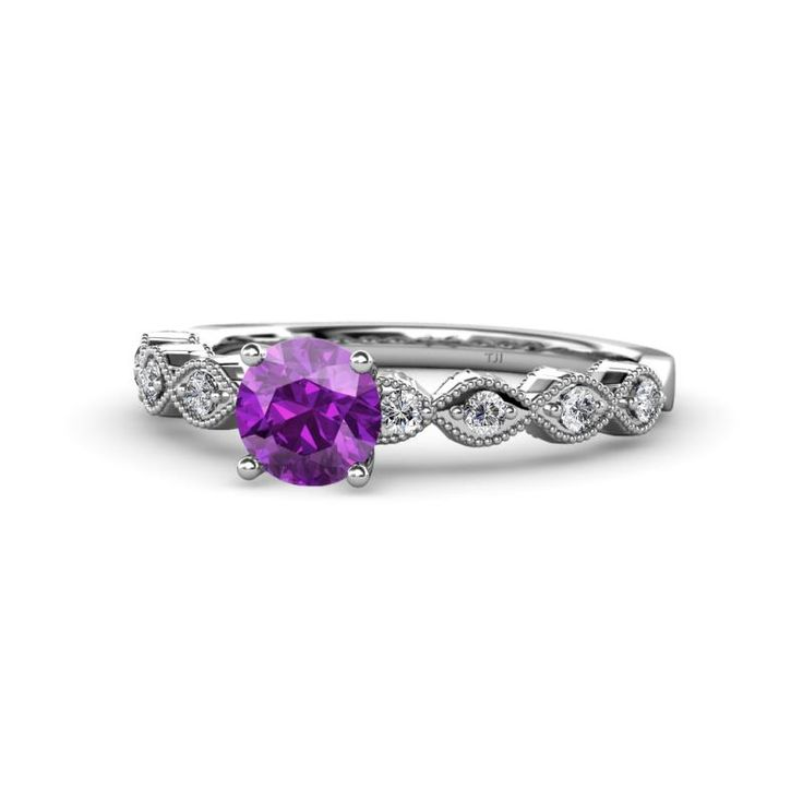 Be on trend this season with February Birthstone color - Purple. Anything can be customized. #violet #2018💜 #amethystjewelry #finejewelry #Jewelryforwomen #februarybirthstone #giftforher #love #gift #trijewels
