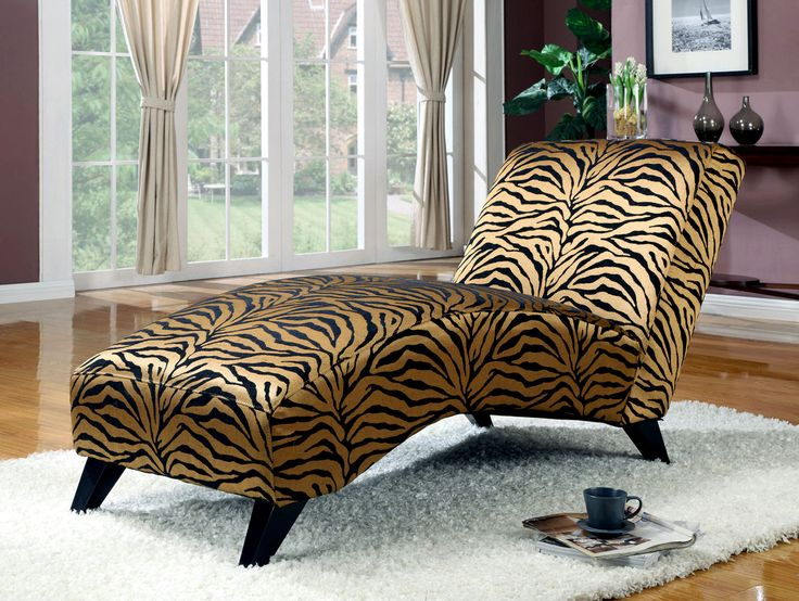17 best images about chaises on pinterest chaise lounge for Animal print chaise