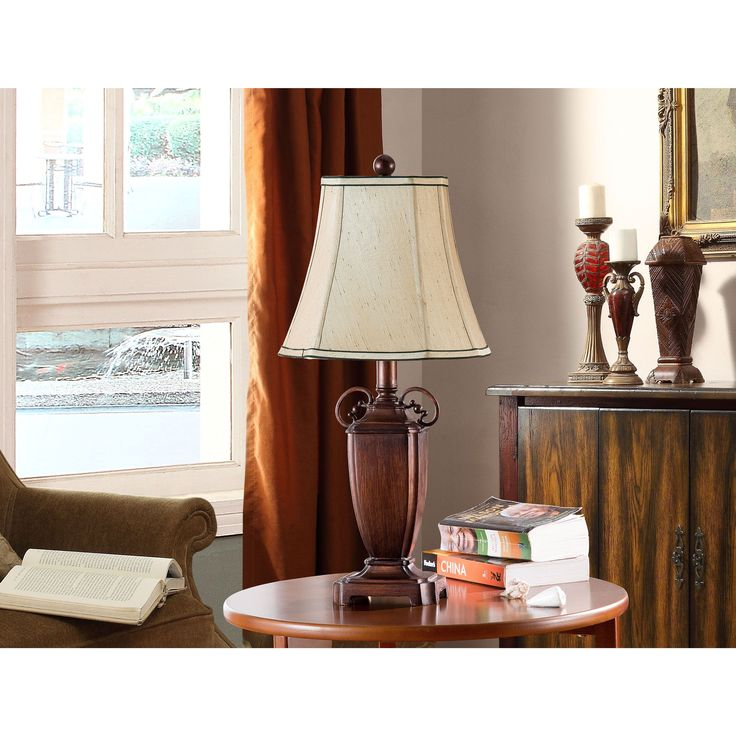 K and B Furniture Co. Inc. Antique Brushed /Light Brown Table Lamps