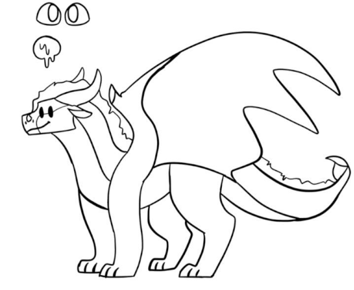 Garbage Onewhisker In 2021 Wings Of Fire Drawing Base Mystical Animals