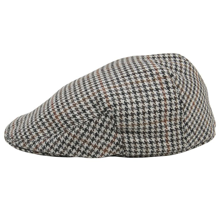 Tweed classic hat with ear protection Grey with Brown