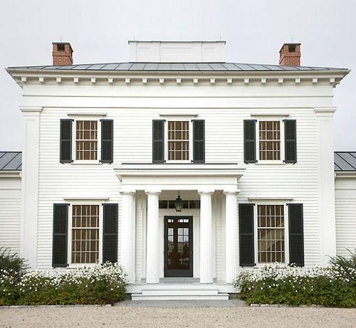 white house, black trim