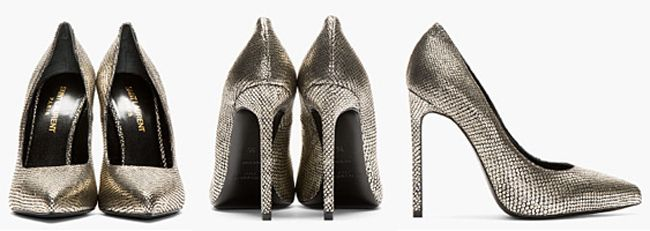 Pumps in silber, gold, kupfer oder monochrome | Fashion Label & Lifestyle Magazin High Heels Alejandro Ingelmo Giuseppe Zanotti silver Brian Atwood Shop Store showroom show new york berlin london paris haute couture saint laurent