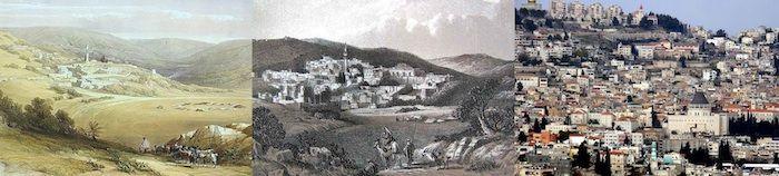 Nazaret, pequeña ciudad de la baja Galilea, se ubica a lo largo de la vertiente más meridional del complejo de colinas que desciende del Líbano, en posición elevada sobre la llanura delantera de Izreel, a casi 350 metros de altitud.
