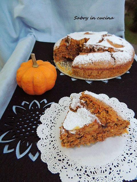 Torta+di+Zucca,+nocciole+e+cioccolato+-+Ricetta+golosa