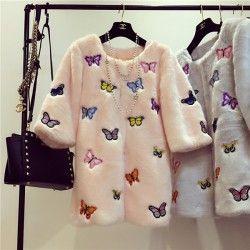 Вышивка на шубе  #BroideryRu #embroidery #машиннаявышивка #машинная_вышивка #шуба #верхняяодежда #декор