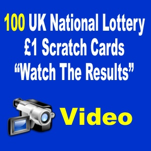 100 UK National Lottery £1 Scratch Cards - The Results | Paid 4 Lotto - Increase your chances of winning the lottery and build yourself a monthly residual income