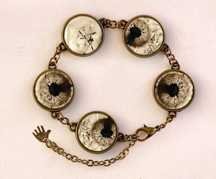 Dandelion Bracelet, Spring jewellery, 0126BB from EgginEgg by DaWanda.com