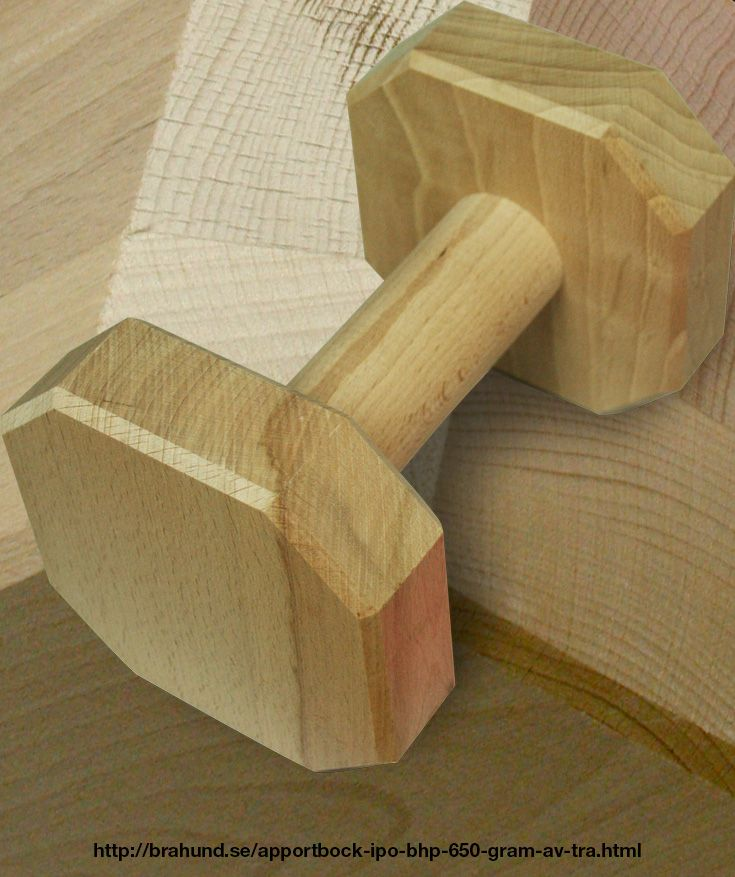 Apportbock IPO/BHP 650 gram av trä.