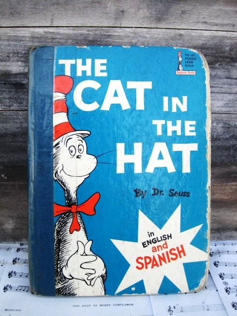 Vintage Childrens Book The Cat in the Hat / El by VintagebyKanina, $7.33