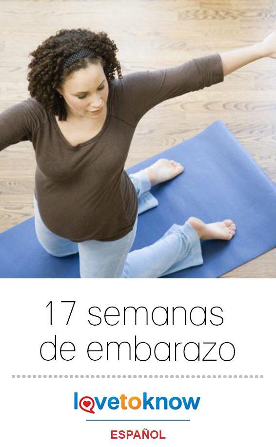 Durante esta semana, tu bebé continúa creciendo y cambiando, y tu cuerpo también experimenta algunos cambios. Hacer ejercicio regularmente durante esta parte del embarazo puede ayudarte a evitar que los cambios corporales sean molestos y puede mejorar tu nivel de energía. #embarazo #mamá #bebé | 17 semanas de embarazo via #LoveToKnowEspañol