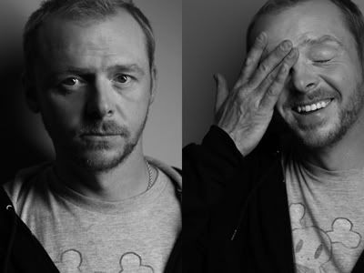 "Simon Pegg - so funny! I have a character for him to play in my novel....Simon to a ""T""....set in 1854...."