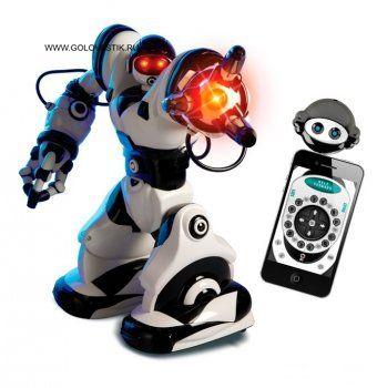 Интерактивный Робот Робосапиен серии X WOWWEE 8006 - это новая версия легендарного Robosapien. Робот обладает всеми функциями своего предшественника, но теперь им можно управлять и с помощью смартфона, скачав специальную программу.  Robosapien обладает следующими функциями: - два режима ходьбы и поворотов у игрушки-робота - полностью управляемые руки с двумя различными захватами - 67 программируемых функций, включающих в себя захват и бросание предметов, удары, сгибания, танец…
