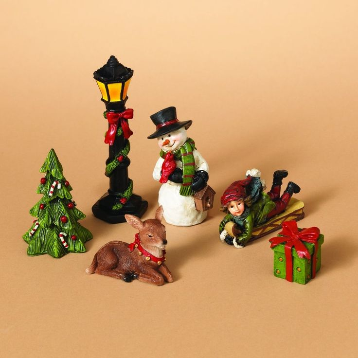 Tabletop Christmas Figurines Set Of 6 Xmas Decoration Holiday Home Party #OneHolidayLane,=> Easy & pleasant transaction => Quick delivery => 100% Feedback => http://bit.ly/24_hours_open #Christmas,#tree,#decor,#Santa,#xmas,#decoration,#inflatable,#holiday,#party,#sandaclaus,#yard,#garden,#patio,#accessories