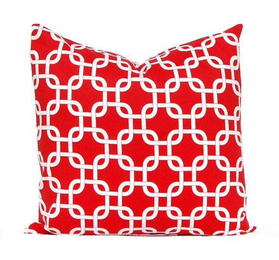 Red Pillow Covers  Red Cushion Covers  Sofa by CompanyTwentySix