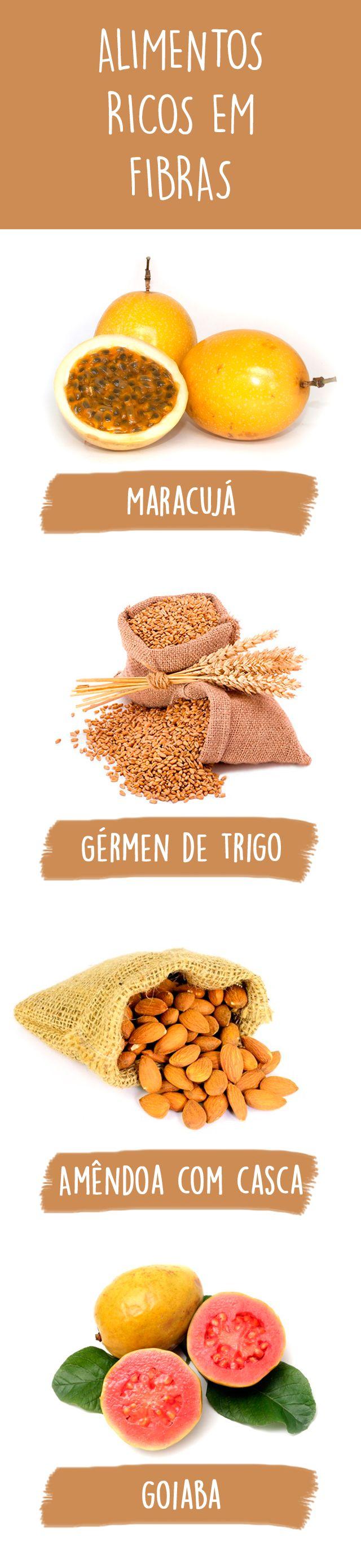 Os alimentos ricos em fibras são, essencialmente, os alimentos de origem vegetal, como cereais, frutas, vegetais, leguminosas e frutas secas.