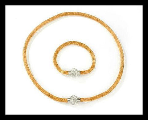 Snake and Shamballa Necklace with FREE Matching Bracelet