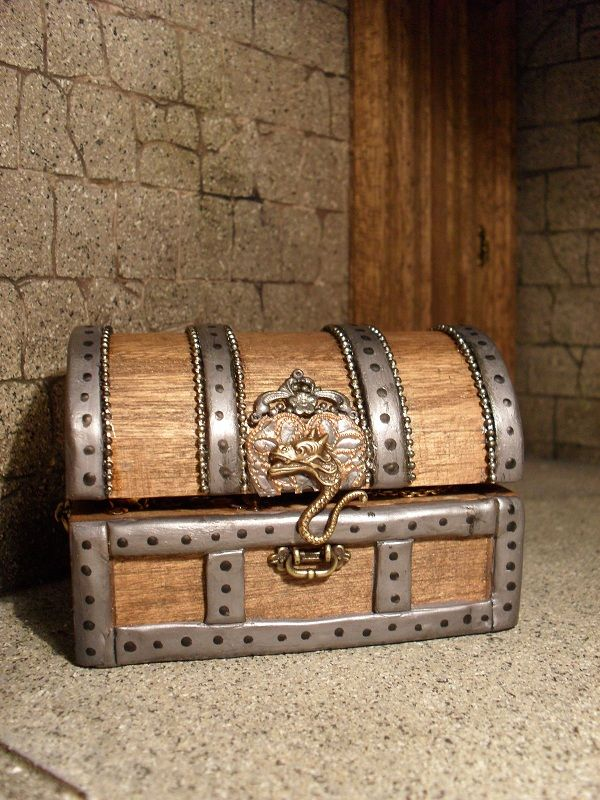 Wood Pirate Chest ~ Best images about mini treasure and chests