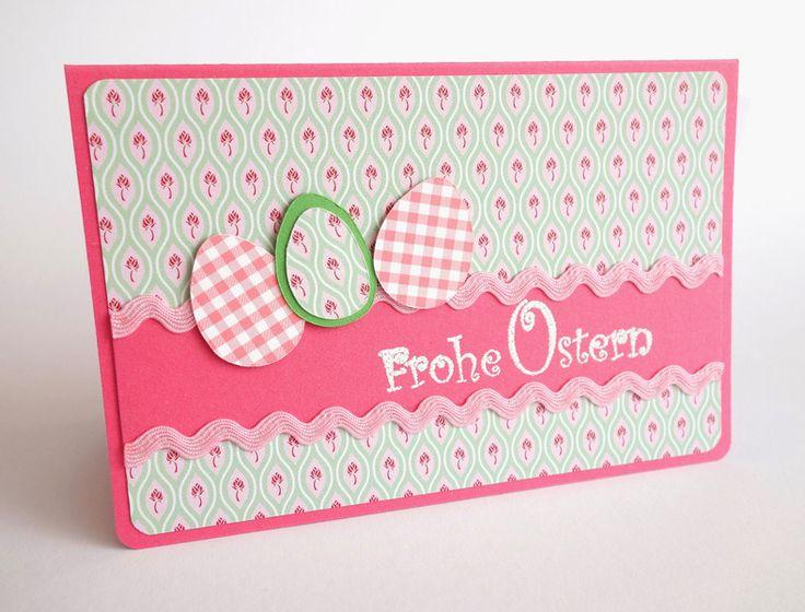 Osterkarte+altrosa+rosa+von+blattsalat+auf+DaWanda.com