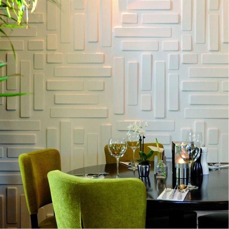 Panouri decorative 3D Bricks, WallArt, 12 placi 50x50cm