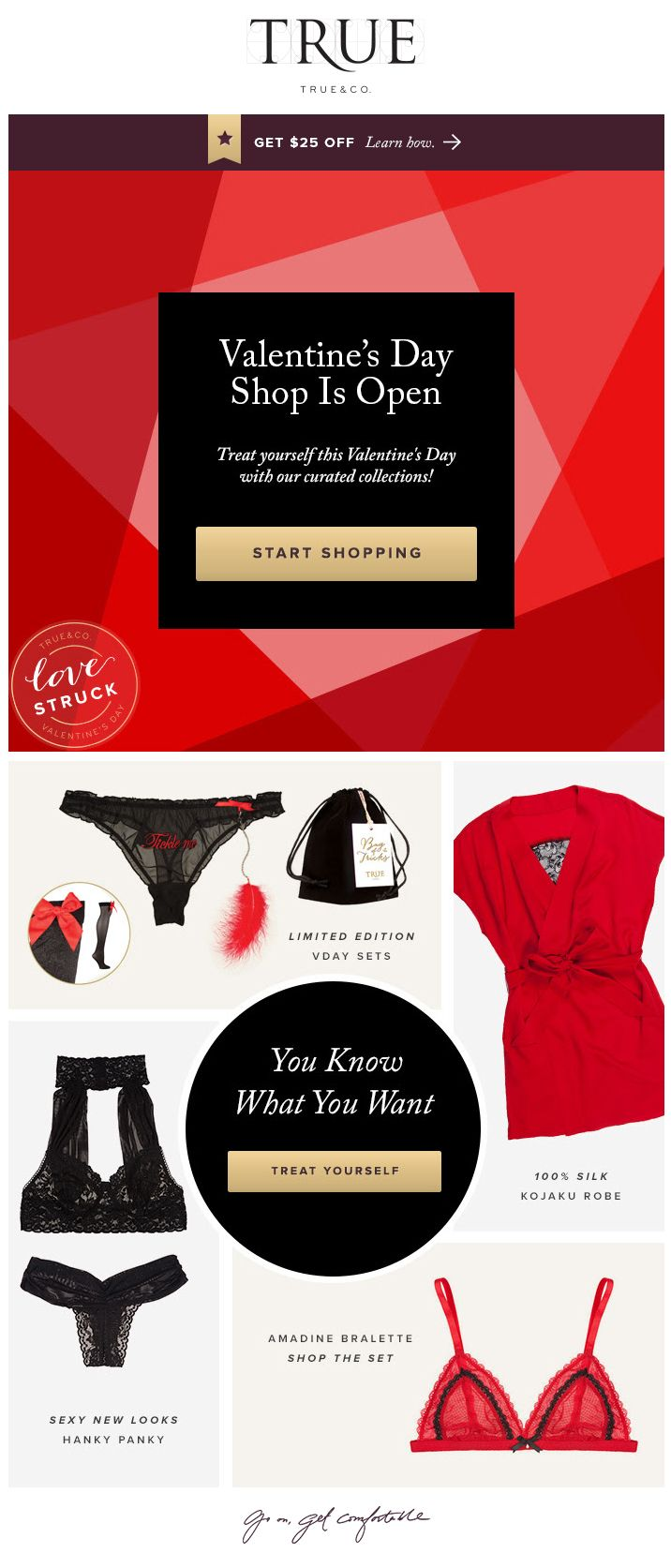 Valentine's Day Inspiration by TRUE & CO. More Inspiring newsletters: http://freshmail.com/inspiring-newsletters