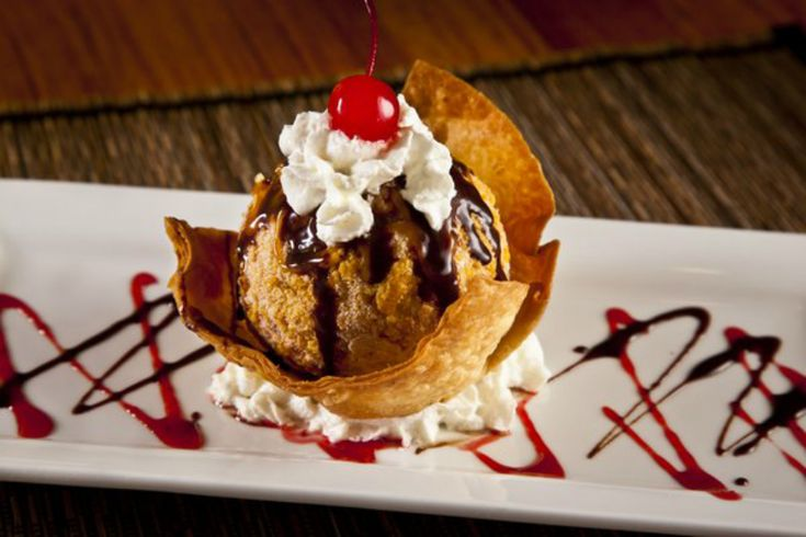 Deep Fried Ice Cream Recipe! Similar to what you get from El Torito! Make it yourself Go here: http://recipeperday.com/recipes/el-toritos-deep-fried-ice-cream/  #icecream #desserts #recipes #dessertrecipes