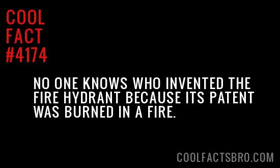 Cool Fact #4174. I guess that inventor was screwed. lol