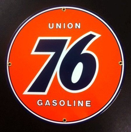 Union 76 Porcelain Sign by Garage Art. $29.95. This Union 76 Porcelain Sign looks great up on the wall in the garage. Perfect gift idea!