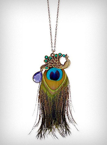 $22   I so want this necklace! It fulfills my peacock obsession.