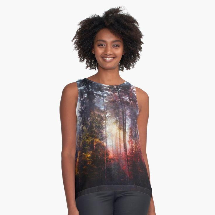 'Warm fuzzy feelings' Contrast Tank by HappyMelvin. #clothing #fashion #original #nature #wanderlust #tanktop