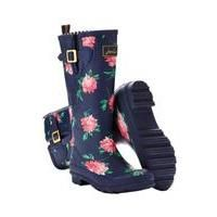 navy wellies with pink peonies