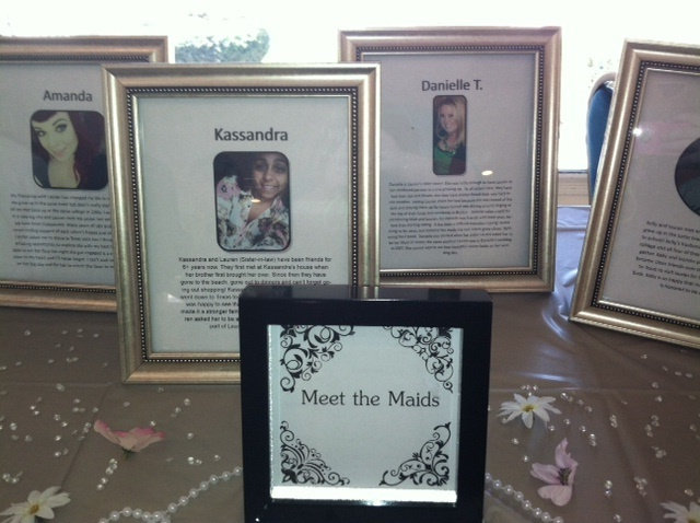 Meet The Maids Table A Little Bio And Picture For All Bridesmaids So Other