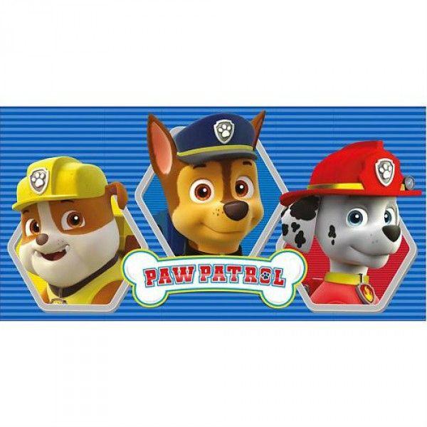 Paw Patrol badehåndklæde med Chase, Marshall og Rubble