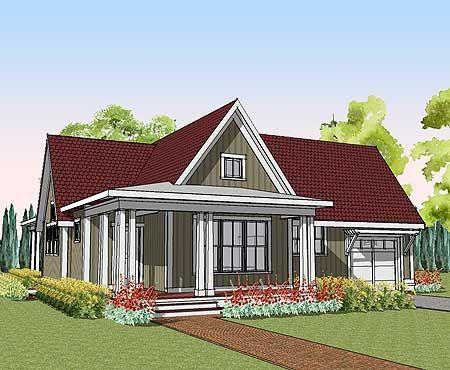 Plan 10001es Cottage With Steep Gable Amp Wraparound
