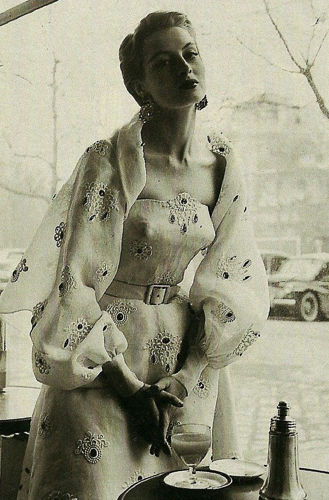 Capucine - 1953 Women's vintage fashion photography photo image 50s old hollywood