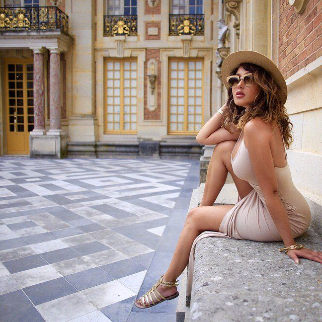 Pin for Later: 15 Celebs Who Gave Us All of the #Goals in 2015 #travelgoals: Adrienne Bailon