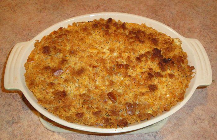 veg all casserole- sounds a little weird but it's really good- had it a potluck. Comfort food.....