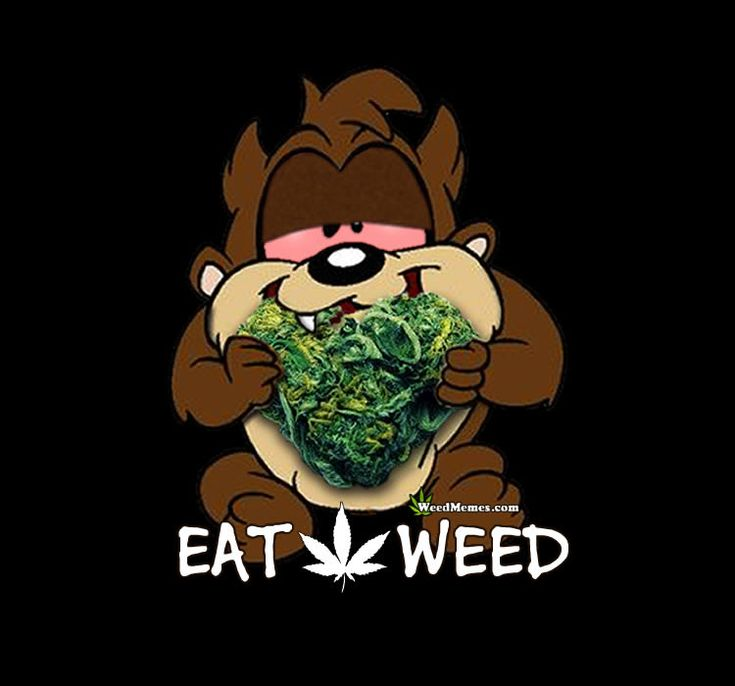 Eat Weed Tasmanian Devil Nug Heart #weedmemes