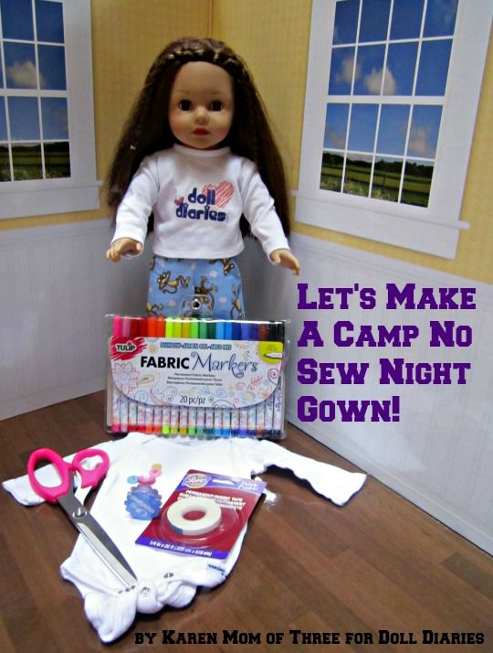 Let's Make A No Sew Camp Night Gown — Doll Diaries