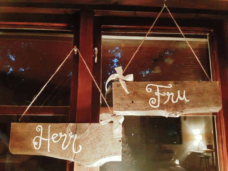 Herr & Fru-skyltar till bröllop  Bondromantik