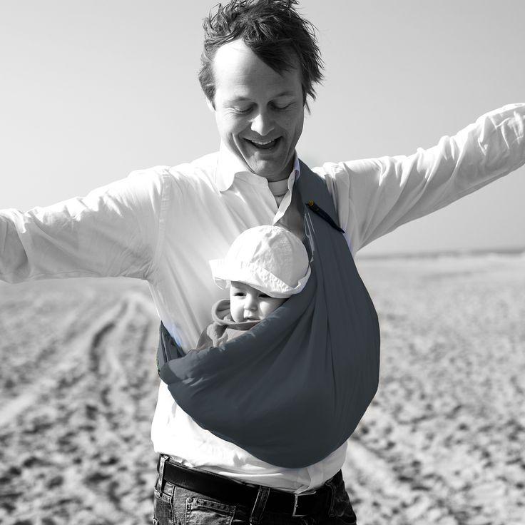 Porte bébé Baby sling gris : Minimonkey - Porte bébé hamac - Berceau Magique